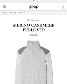 Shop our cashmere quarter zip line now @goop #playallday #cozy4fall #greyallday