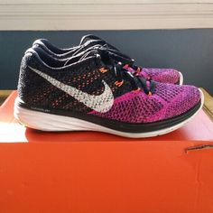 official photos e305f 95882 wholesale nike flyknit lunar 3 size womans 5 too small original box price  is firm no