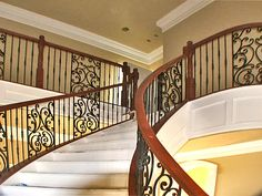 spiral stairway with wrought iron scroll 2.jpg 640×480 pixels