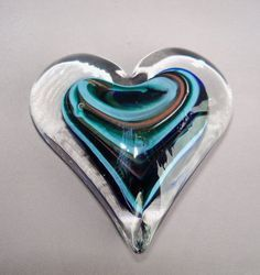 hand blown glass heart <3~<3~<3