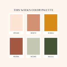 Colour Pallette, Colour Schemes, Color Combos, Vintage Color Schemes, Orange Color Palettes, Color Trends, Palette Design, Color Stories, Color Swatches