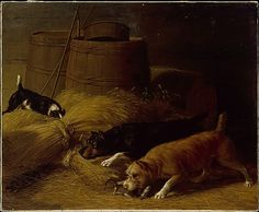 Thomas Hewes Hinckley (1813–1896). Rats amongst the Barley Sheaves, 1851. The Metropolitan Museum of Art, New York.
