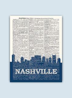 Nashville Skyline Nashville Poster Nashville Decor