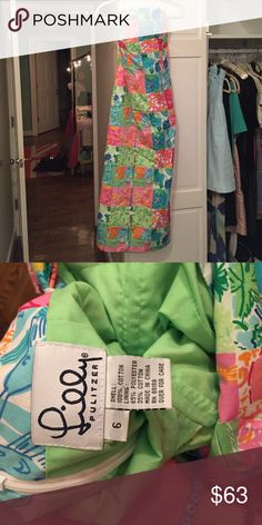 Lilly Pulitzer Tea length Dress Vintage Lilly Pulitzer tea length strapless dress Lilly Pulitzer Dresses Maxi