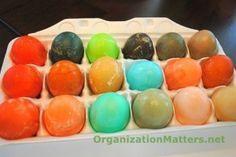 How our Kool-aid eggs turned out!