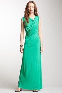 Asymmetrical Neck Maxi Dress by Fraiche By J on @HauteLook