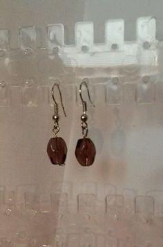 Handgemachte Ohrringe Ohrringe Ohrhänger violetter Tropfen