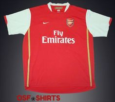 b9cd090a0ad00 ARSENAL HOME FOOTBALL SHIRT 2006-2008 Jersey Maglia Camiseta Soccer (XXL)
