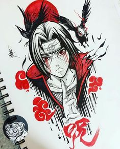 Desenho do Itachi Anime naruto Anime Naruto, Art Naruto, Naruto Sketch, Naruto Drawings, Anime Drawings Sketches, Naruto Shippuden Anime, Anime Sketch, Cartoon Drawings, Cool Drawings