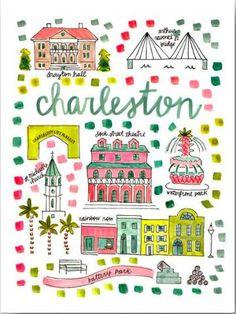 Charleston South Carolina Map Print | Sassy Shortcake | sassyshortcake.com