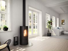 Give your home a #modern feeling with this #newnordic #design. #Viva #stove #fireplace
