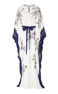 Exclusive Embellished Silk Georgette Caftan by MARCHESA Now Available on Moda Operandi Marchesa Fashion, Abaya Fashion, Kimono Fashion, Modest Fashion, Fashion Outfits, Emo Outfits, Punk Fashion, Lolita Fashion, Fashion Tips