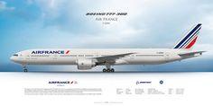 Boeing 777-300ER Air France F-GZNC   Airliner Profile Art Pr…   Flickr