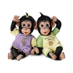 """Monkey See, Monkey Do"" Schimpansen Puppen-Duo: Amazon.de: Spielzeug"