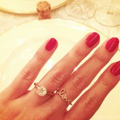 Lauren Conrad Engagement Ring - round cut diamond solitare #lauren conrad #engagement ring #diamond solitare
