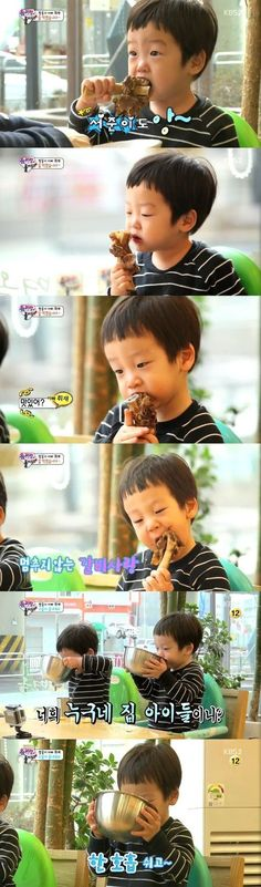 LeeTwins SeoEonSeoJun getting into braised short ribs | ReturnOfSuperman