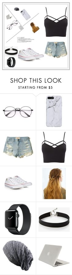"""school day"" by veggieturkey-1 ❤ liked on Polyvore featuring Hollister Co., Charlotte Russe, Converse, WithChic, Express, Tucano and plus size clothing"