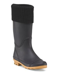 Sweater Trim Rain Boot