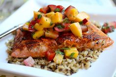 Your Southern Peach: Chili Rubbed Salmon and Mango Salsa