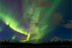 May Aurora. Pioneer Peak is on the right, with the Knik Valley in the middle. Image by Nathan Mitchell. Travel Around The World, Around The Worlds, Visit Alaska, Star Painting, The Mountains Are Calling, Natural Phenomena, Aurora Borealis, Nature Photos, The Places Youll Go