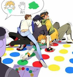 Lance is on top of Keith...<< XD YASSS. Also, why couldn't pidge put her right hand on a green that's closer since there's obviously open green spaces?