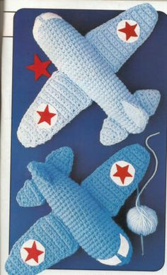 "CROCHET PATTERNS FOR 9"" & 12"" AIR PLANES AIRPLANES PLANES TOYS"