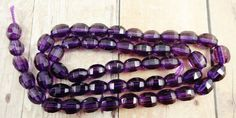 High Quality Amethyst Faceted Barrel Beads by StoneWingSupplies