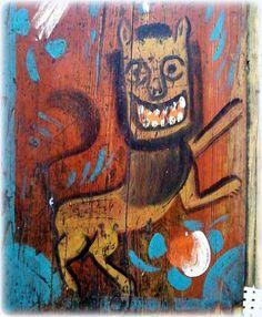 View album on Yandex. Naive, Folk Embroidery, Old Paintings, Fantastic Beasts, Book Illustration, Painting On Wood, Alice In Wonderland, Illustrators, Art For Kids