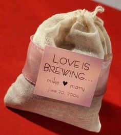 Cute favor idea, coffee... probably more for an older couple