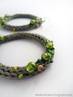 orecchini a cerchio - cotton circle earrings