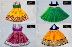 Cute kids frocks and lehengas by Yaksi Deepthi Reddy. To order/contact :  Raod No.4, Banjarahills    Hyderabad Phone no : 91 93461 83949