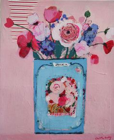 charlotte hardy.... cute bouquet in a gypsy vintage tin