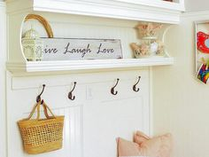 Mudroom hooks are handy for hanging jackets and coats.