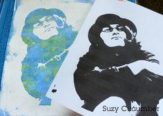 Suzy Cucumber: Tempera Resist Portraits