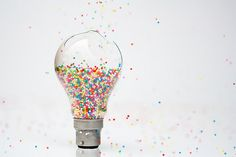 Sprinkles and a lightbulb