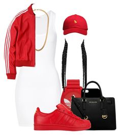 """""""• Bonnie & Blyde •"""" by outofchange ❤ liked on Polyvore featuring American Vintage, adidas, Casetify, MICHAEL Michael Kors, Claude Montana and October's Very Own"""