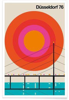 Düsseldorf 76 en Affiche premium par Bo Lundberg | JUNIQE