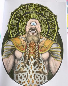 #mythic #bennettklein #adultcolouring #colouring #coloring #adultcoloring