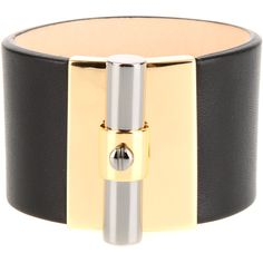 REED KRAKOFF Bracelet ($780) ❤ liked on Polyvore featuring jewelry, bracelets, reed krakoff, bracelet jewelry, leather cuff bracelet, lock bracelet and bracelet bangle