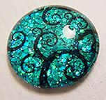 Faux Dichroic Glass Mimic Tutorial How to Guide and Other things to do with your domino size rubber stamps!