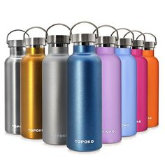 d99a0ead80 Amazon.com : TOPOKO 25 oz Stainless Steel Vacuum Insulated Water Bottle,  Keeps Drink