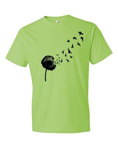 Dandelion Flying Seed Short sleeve unisex t-shirt