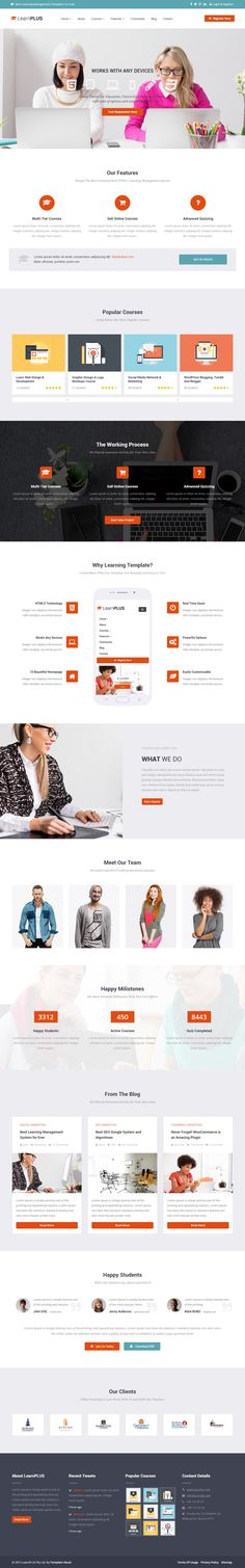 LearnPLUS is Premium full Responsive Retina Parallax #LearningManagementSystem #HTML5 Template. #Bootstrap3. Video Background. Test free demo at: http://www.responsivemiracle.com/cms/learnplus-premium-responsive-education-lms-html5-template/