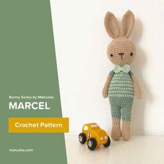 Marcel | Crochet bunny pattern ❤ https://www.etsy.com/listing/504681556/marcel-crochet-pattern-amigurumi-pattern