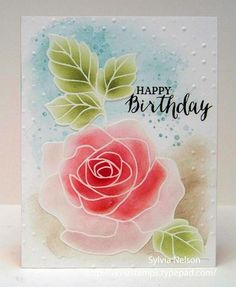 ANOTHER ROSE BIRTHDAY CARD.....LOTS OF JANUARY BIRTHDAYS!
