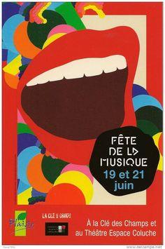 carte postale moderne, Fête de la Musique 2010 à Plaisir (78) à la Clé des Champs et au théatre Espace Coluche