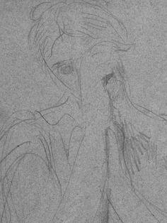 CHASSERIAU Théodore,1845 - Cléopâtre se donnant la Mort, Etude - drawing - Détail 3