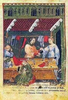 TRAMA E ORDITO - il blog della moda: Tacuinum sanitatis (La bottega di un sarto)