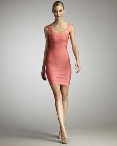 Crisscross-Strap Bandage Dress by Herve Leger at Neiman Marcus.