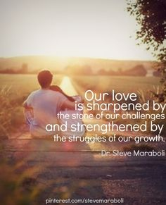 Our love is sharpened and strengthened... it still isn't easy to be crazy in love and be apart!!!
